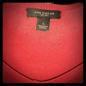 Ann Taylor  red Cardigan